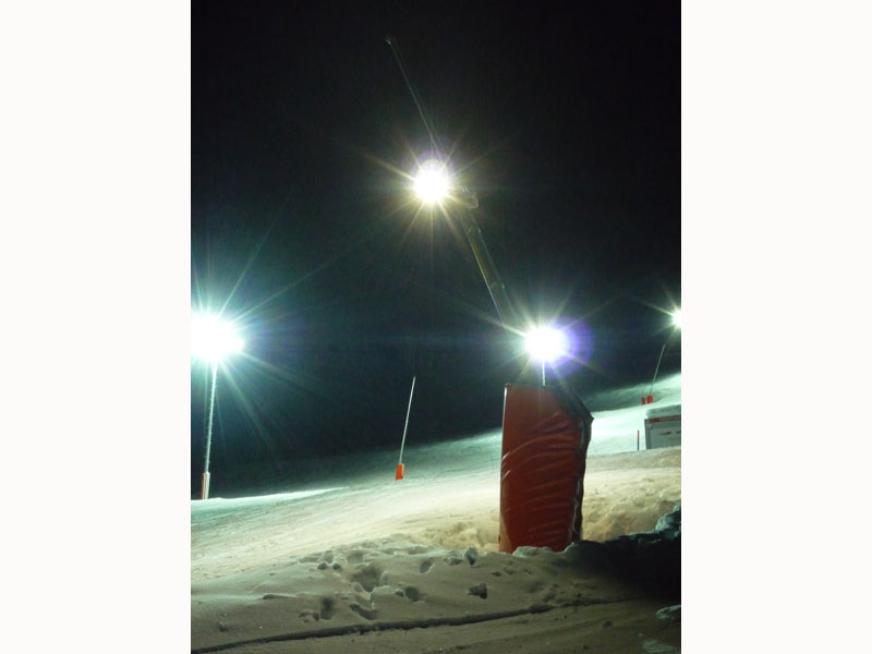 eclairage led piste de ski