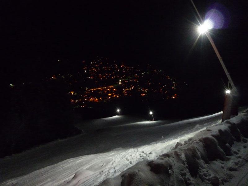 eclairage piste ski