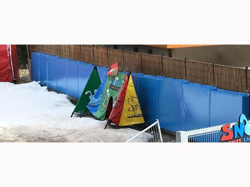 matelas de sécurité école de ski
